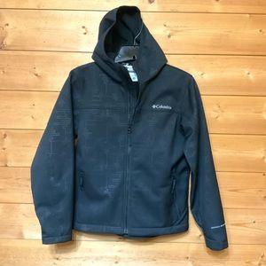 Columbia youth hooded waterproof jacket SZ 10/12